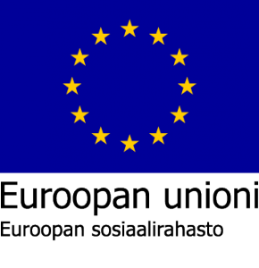 Kainuun Liikunta ry - Euroopan unioni. Euroopan sosiaalirahasto logo.